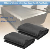 6FT Waterproof Dust Cover For Billiards Snooker Pool Table 190cm x 125cm x 68cm