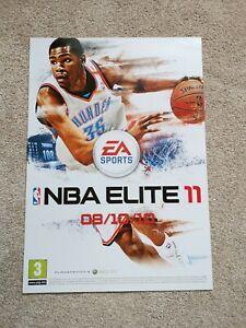 RARE Genuine ORIGINAL NBA Elite 11 EA PS3 XBox 360 Promo Poster FREE POSTAGE