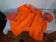 Lot Orange Vest X Large By Golden Retriever & 2 Pair Orange Gloves