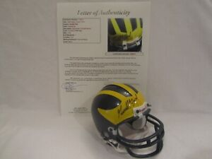 President Gerald Ford Autographed Michigan Wolverines Mini Helmet – Full JSA LOA