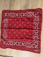 Vintage Scarlet Bandana