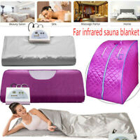 Far Infrared Sauna Blanket Digital Controller Slimming Weight Detox Spa 110 V