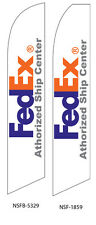 TWO FedEx Authorized Ship Center 15 foot Swooper Feather Flag Sign