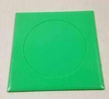6 Green plastic wall tile Franklin Cameo vintage bathroom Recessed circle  NOS