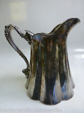 Antique E. G Webster & Son Raised Relief Cold Water / Milk Pitcher