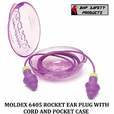 MOLDEX ROCKETS 6405 CORDED EAR PLUGS WITH CARRY CASE (1 PAIR)