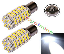 2 Pcs Car 120 LED 3528 SMD 1156 BA15S Pure White Fog Head Light Lamp Bulb DC 12V