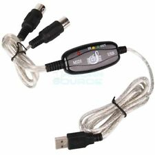 6 feet USB to MIDI Keyboard Interface Converter Cable Adapter Computer Adaptor