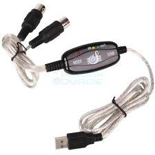 6 piedi USB a Midi interfaccia tastiera CONVERTITORE ADATTATORE CAVO ADATTATORE COMPUTER