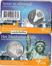 COIN CARD  NEDERLAND         2009        Het Manhattan Vijfje   in Coincard