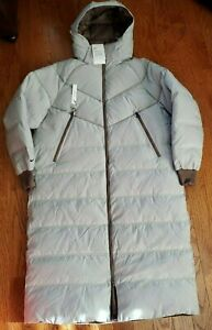 Womens Parka Nike Sportswear Down-Fill City Ready Long Jacket Winter Coat Grey M