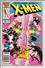 UNCANNY X-MEN #208 NEWSSTAND 1986 VS. THE HELLFIRE CLUB! JOHN ROMITA JR ART! FN