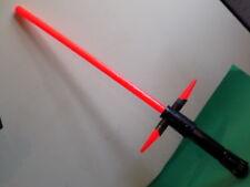 Kylo Ren Deluxe Lightsaber Habro Force Awakens Ultimate FX Red Star Wars Rare