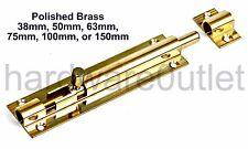 Securit B1524 Brass Door Bolt 75mm