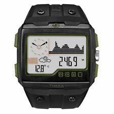 New Timex Expedition WS4 Watch T49664 Black/Green Altimeter Compass Barometer