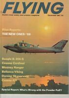 Flying Magazine December 1967 Airplane Beagle B.206-S , Cessna 421 and Piper AD