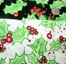 Moda Tela Nevada impresiones Paisley Poinsettia Rojo-por 1//4 Metro