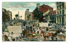 Market Day Jacques Cartier Square Montreal Quebec Canada 1910c postcard