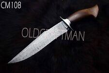 "15.5"" Custom Handmade Damascus Steel Hunting Bowie  Knife Rose Wood Handle CM108"
