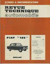 (35A)  REVUE TECHNIQUE AUTOMOBILE FIAT 125 Berline