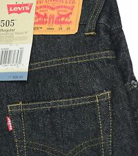 Brand new Levis 505 Boys Jeans Straight leg 3D Black Regular fit youth size 10R