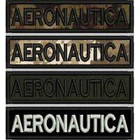 [Patch] AERONAUTICA cm 12 x 3 toppa ricamata ricamo termoadesiva -399