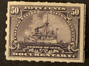 S9/111 US Stamp Revenue BOB 1898 R171 50c MNHOG V. Beautiful Fresh Good Center