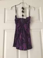 Sky Brand Women's Embellished Halter Top Size Small NWT Super Chic!