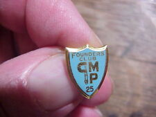 CMP 25 FOUNDERS CLUB Machinists Micrometer 14K Gold LAPEL PIN