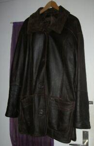 UNISEX Stylische echte LAMMFELL Jacke braun warm Gr.M Medium Antikleder Herren