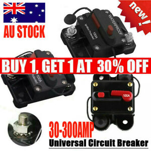 30A-300A AMP Circuit Breaker Fuse Reset 12-48V DC Car Boat Auto Waterproof AU