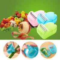 Muti-funtion Fruit Vegetable Peeler With Storage Box Plastic Peeler Tool U K