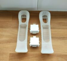 2 x Official Nintendo Wii Motion Plus Adapters (RVL-026) with Silicone Cases