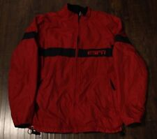 ESPN Red Winter Jacket Reversible Black Fleece Size Mens Medium