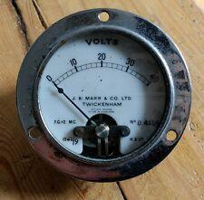VINTAGE VOLT METER GAUGE - STEAMPUNK RETRO ANTIQUE COOL ELECTRICITY VOLT