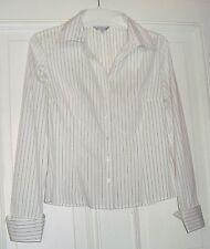 Damen Bluse Langarm  AMISU Gr. 36 weiß/schwarz gestreift