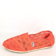 Toms Womens Size 6 W Coral Flat Loafers Shoes.
