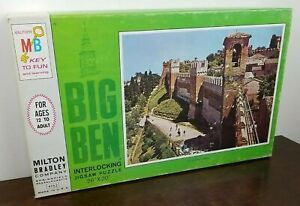 New Sealed NOS 1968 MB Milton Bradley BIG BEN Grandara Spain 1000 Piece  Puzzle