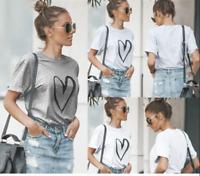 Plus Size 6-14 Women Short Sleeve T-Shirt Ladies Summer Casual Baggy Tops Blouse