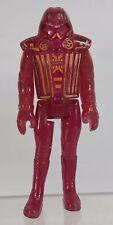 "Vintage Walt Disney Tron Warrior 3.75"" Movie Action Figure Tomy 1981 Red Clear"