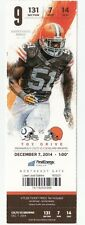 2014 CLEVELAND BROWNS VS INDIANAPOLIS COLTS TICKET STUB 12/7/14 BARKEVIOUS MINGO