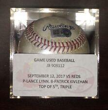 Patrick Kivlehan Cincinnati Reds Game Used 1st Career Triple Baseball MLB HOLO
