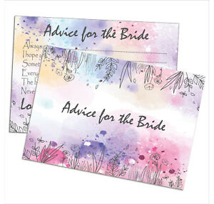 Advice For The Bride Cards, Hen party Games Wedding Gift Keepsake Top Quality