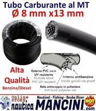 TUBO CARBURANTE PVC RETINATO 8X13 Alta Qualità Benzina Diesel Barca Motori Metro