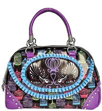 Too Fast/ Bird Cage Hand bag/ black-multi - 222