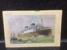23.  White Star Line MV Bitannic Postcard