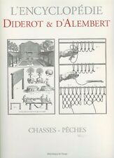 DIDEROT FISHING & HUNTING BOOK CHASSES PECHES PLANCHES paperback NEW
