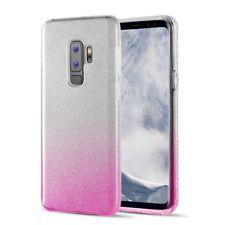 COVER Custodia Glitter GRADIENTE Morbida Silicone per Samsung Galaxy S9 PLUS Ros