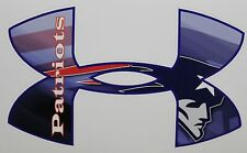 Under Armour New England Patriots Truck/Window Decals Sticker - Set of three
