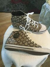 Coach Cardinal Signature Women's High Top Sneaker Sz.8.5 B Style A1505